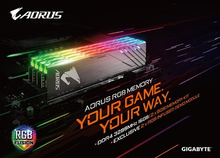GIGABYTE Lights Up DRAM Market With AORUS RGB Memory